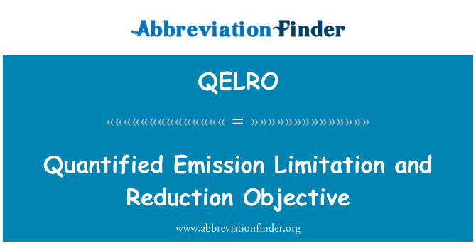 QELRO: Quantified Emission Limitation and Reduction Objective