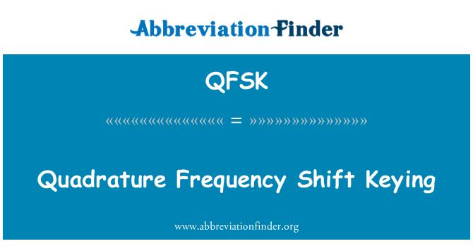 QFSK: Quadrature Frequency Shift Keying
