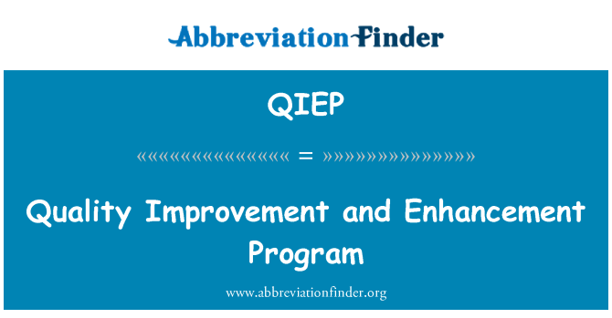 QIEP: Quality Improvement and Enhancement Program