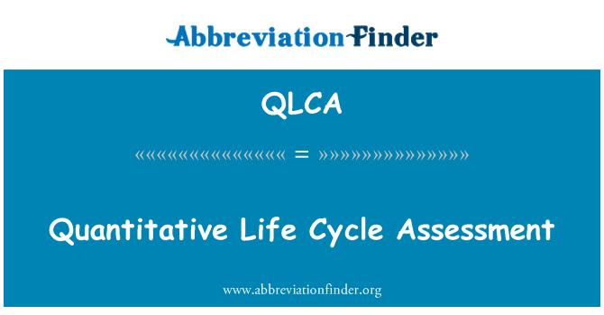 QLCA: Quantitative Life Cycle Assessment