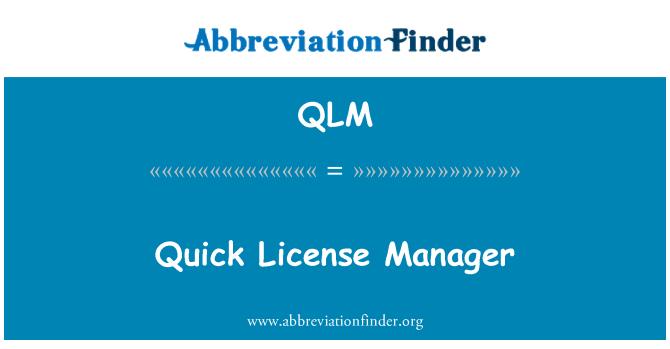 QLM: Hızlı Lisans Yöneticisi