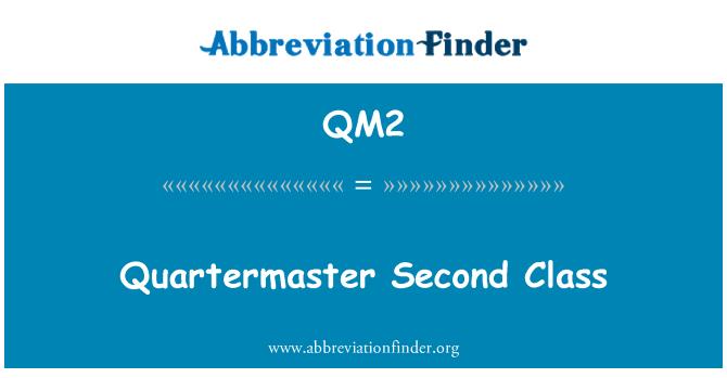 QM2: Kvartermester andre klassen