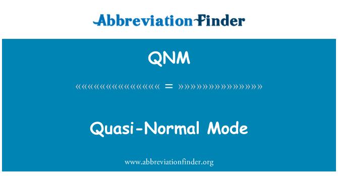 QNM: Modo cuasi-Normal
