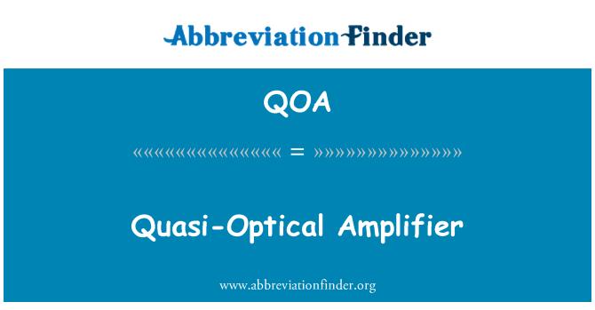 QOA: Quasi-Optical Amplifier