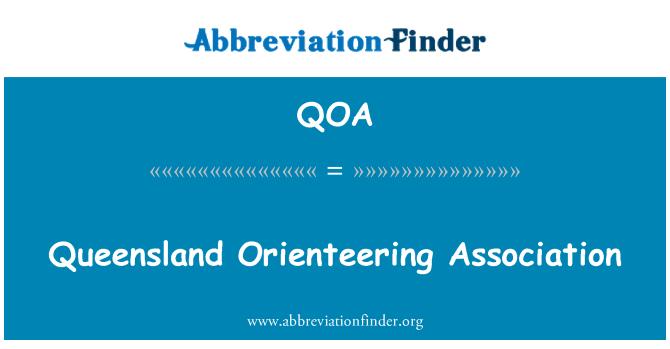 QOA: Queensland Orienteering Association
