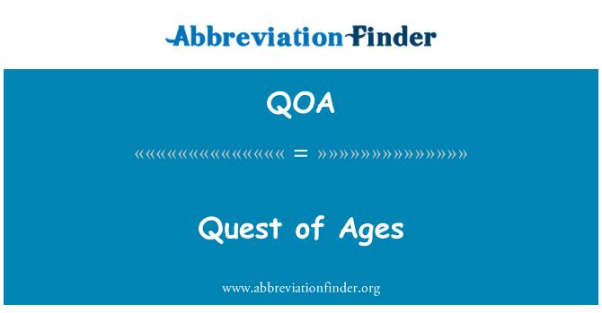 QOA: Quest of Ages