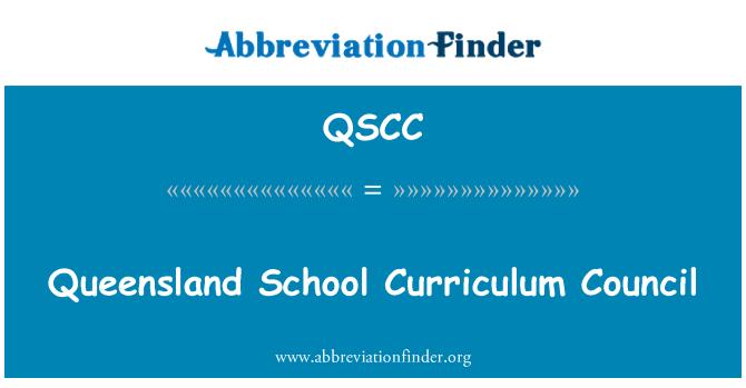 QSCC: Queensland School Curriculum Council