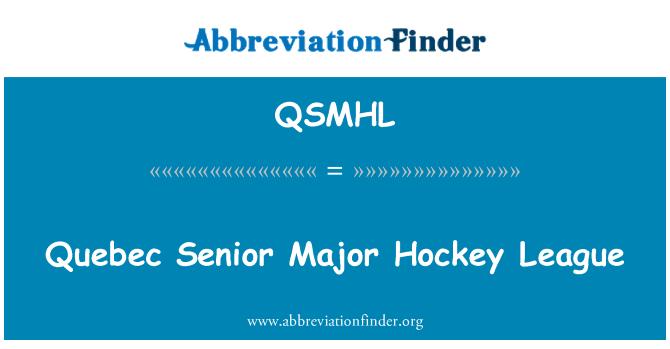 QSMHL: Quebec Senior Major Hockey League