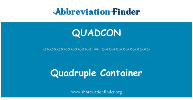 QUADCON: Çift Kişilik Standart konteyner