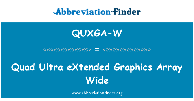 QUXGA-W: Quad Ultra eXtended Graphics Array Wide