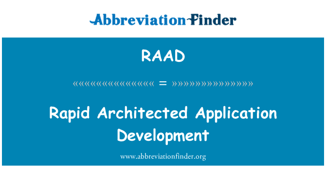 RAAD: Kiire Architected sovelluskehitys