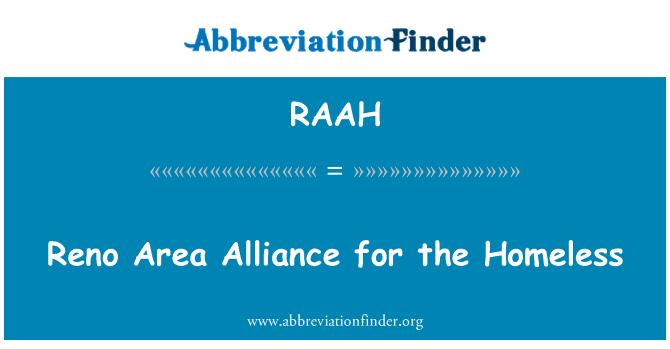 RAAH: Reno Area Alliance for the Homeless
