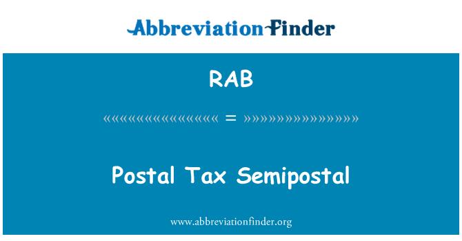 RAB: Postal Tax Semipostal
