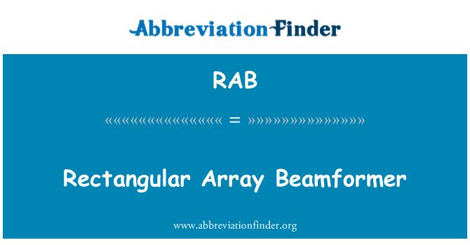 RAB: Rectangular Array Beamformer