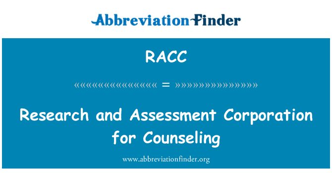 RACC: Research and Assessment Corporation for Counseling