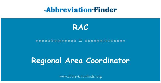 RAC: Regional Area Coordinator