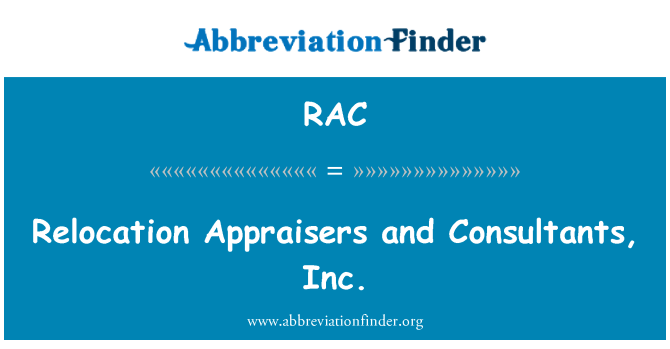 RAC: Relocation Appraisers and Consultants, Inc.