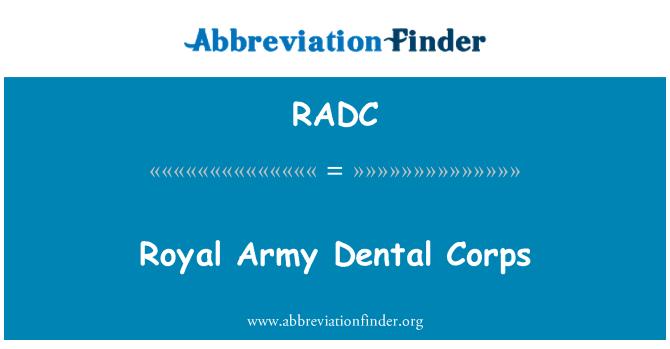 RADC: Royal Army Corps Dental