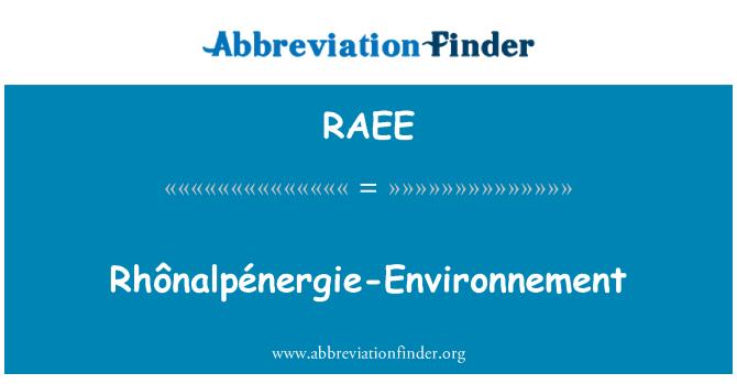 RAEE: Rhônalpénergie-Environnement