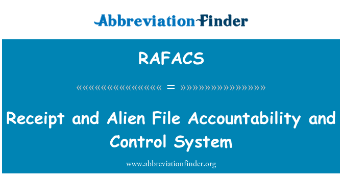 RAFACS: Receipt and Alien File Accountability and Control System