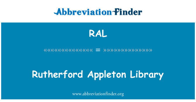 RAL: Rutherford Appleton Library