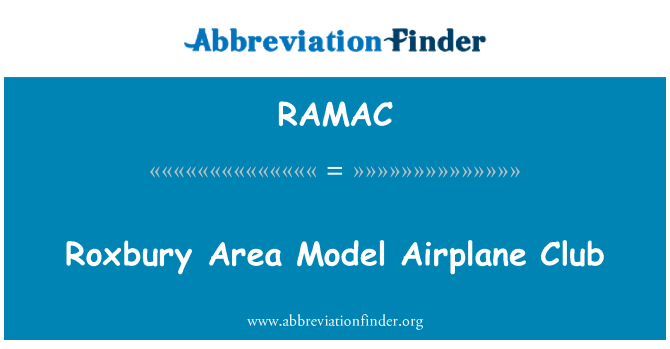 RAMAC: Roxbury Area Model Airplane Club