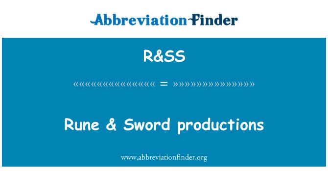 R&SS: Producciones de runas y la espada