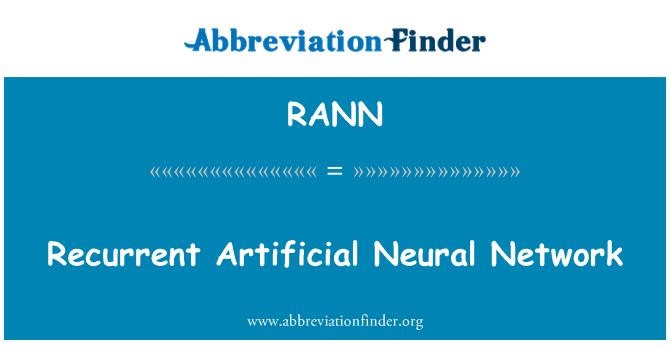 RANN: Red neuronal Artificial recurrente