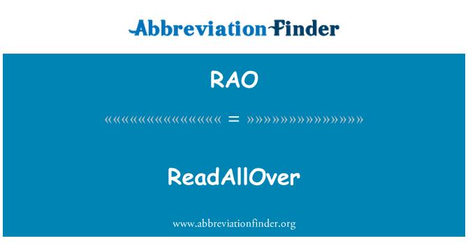 RAO: ReadAllOver