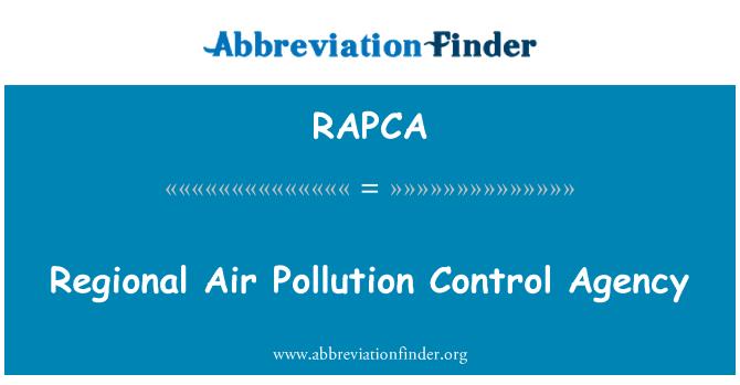 RAPCA: Regional Air Pollution Control Agency