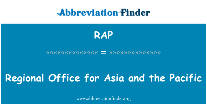 RAP: Regional Office for Asia and the Pacific