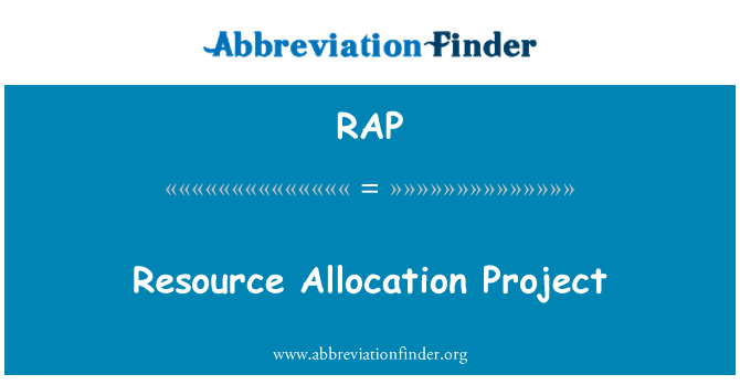 RAP: Resource Allocation Project