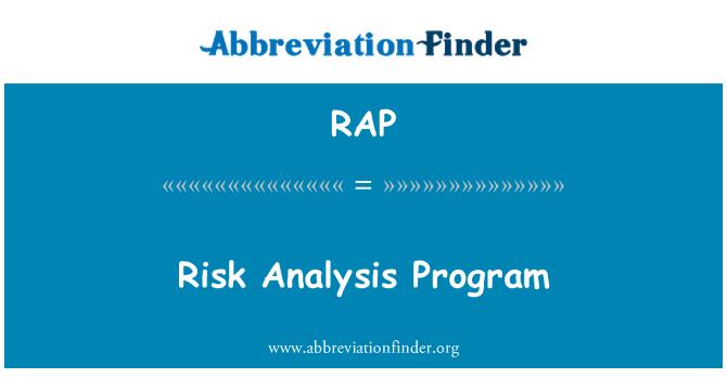 RAP: Risk Analysis Program