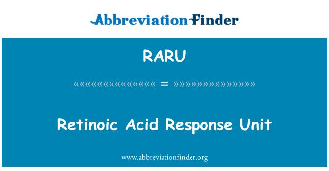 RARU: Retinoic Acid Response Unit
