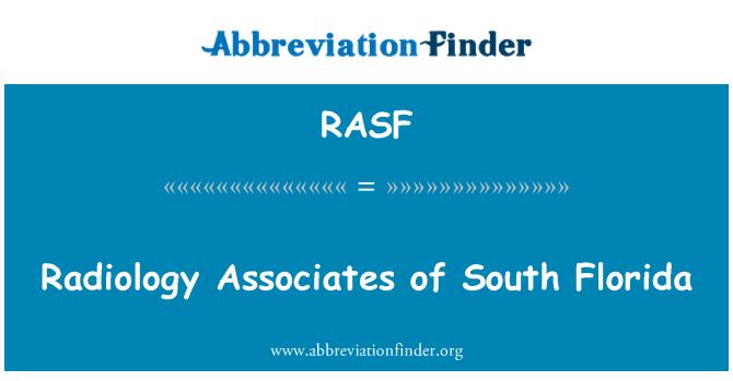 RASF: Radiología asociados del sur de Florida