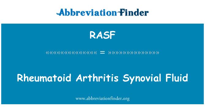 RASF: Líquido sinovial de la artritis reumatoide