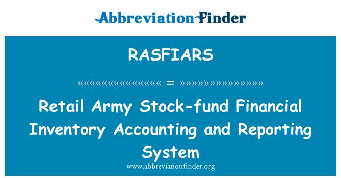 RASFIARS: Venta por menor ejército fondo Stock inventario financiero contabilidad y sistema de información