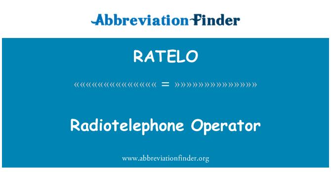 RATELO: Yangın operatörü