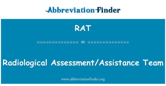 RAT: Radiological Assessment/Assistance Team