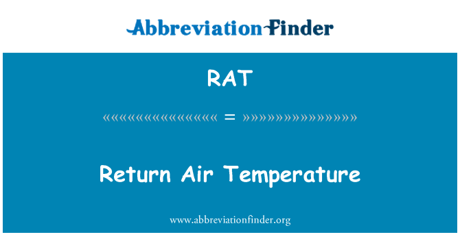 RAT: Return Air Temperature