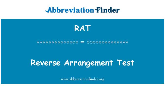 RAT: Reverse Arrangement Test