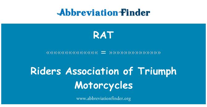 RAT: Riders Association of Triumph Motorcycles