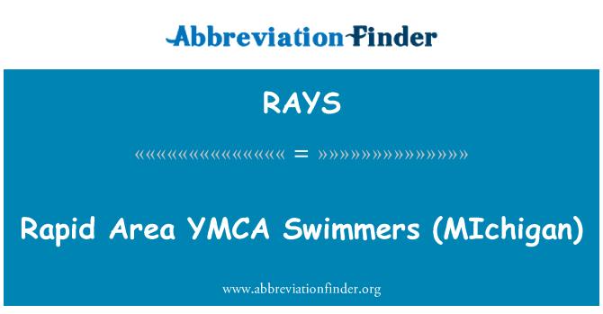 RAYS: Nadadores rápidos Area YMCA (MIchigan)