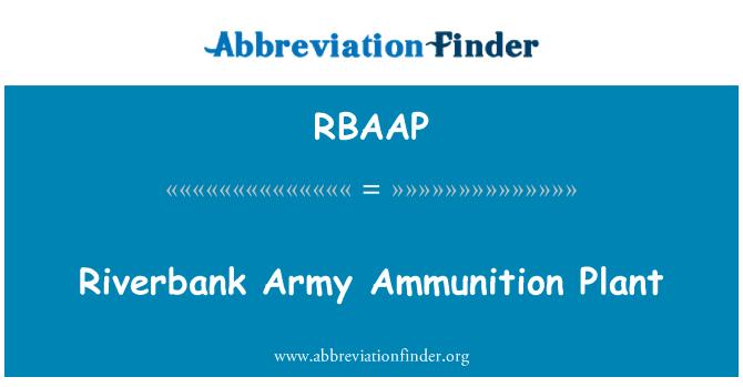 RBAAP: Orilla del río planta de municiones del ejército