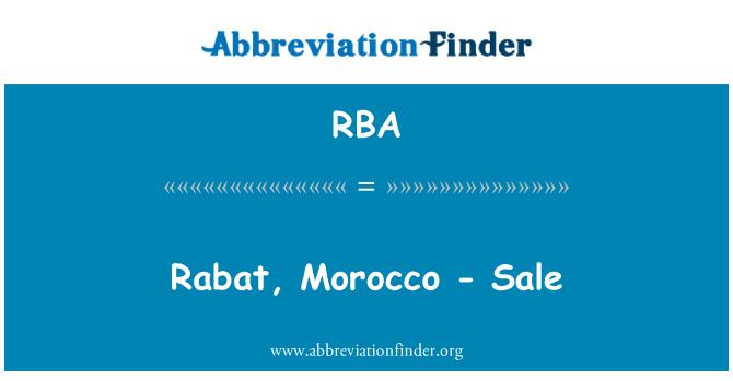RBA: Rabat, Morocco - Sale