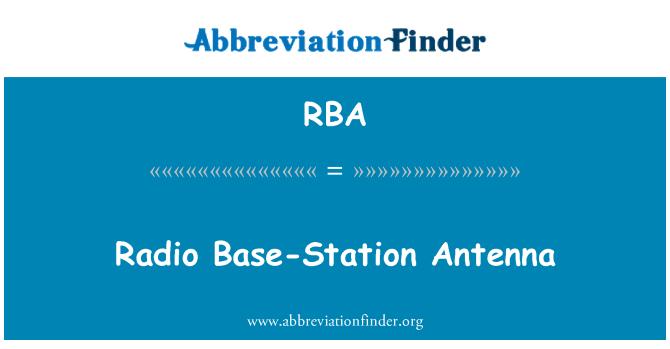 RBA: Radio Base-Station Antenna