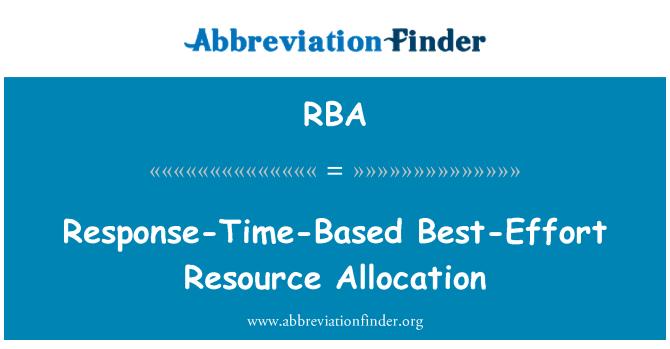 RBA: Response-Time-Based Best-Effort Resource Allocation
