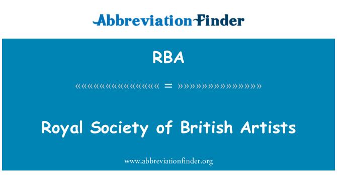 RBA: Royal Society of British Artists
