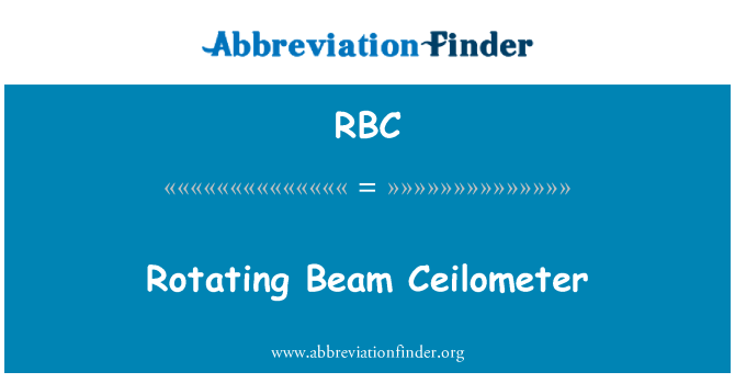 RBC: Rotating Beam Ceilometer