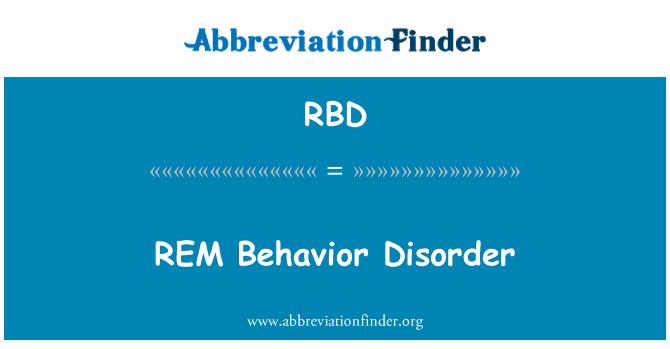 RBD: REM   Behavior Disorder